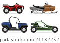 set icons atv automobile off roads vector 21132252