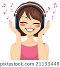 Woman Music Earphones 21133449