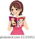 Woman Reading Fashion Magazine 21133451