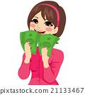 Excited Money Businesswoman 21133467
