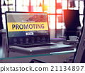 promoting, laptop, screen 21134897