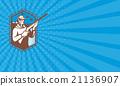 Business card Hunter With Shotgun Rifle Shooting  21136907