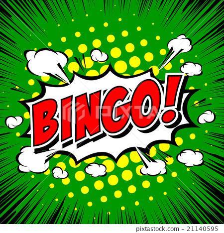 Bingo! Comic Speech Bubble, Cartoon 21140595