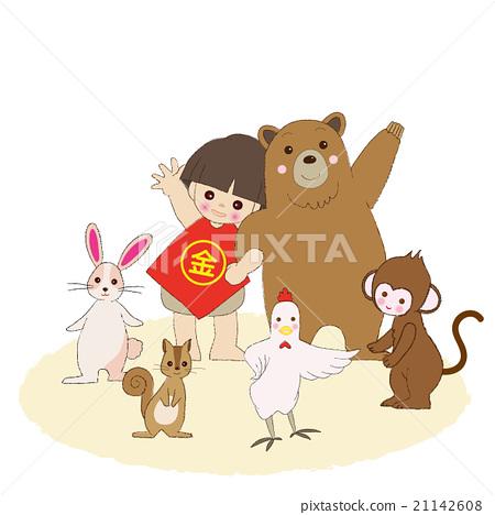金太郎 菱形圍裙 動物 21142608