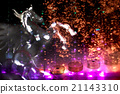 japanese money and horse with light effect 21143310
