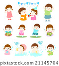 pack of children character cartoon vector 21145704