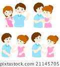 pack of couple character cartoon vector 21145705
