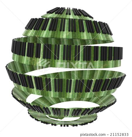 Spherical shaped  piano keyboard design 21152833