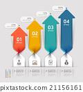 Modern Arrow business spiral infographics option. 21156161