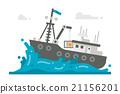 Flat design alaska crab fishery 21156201