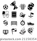 Soccer icons. Vector illustration 21156354