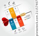 Business target marketing dart idea. 21157407