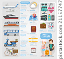 Travel planner infographics element.  21157747