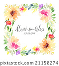 Greeting card. Watercolor flowers background 21158274