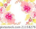Watercolor flowers background 21158276