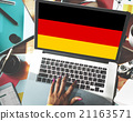 Germany Country Flag Nationality Culture Liberty Concept 21163571