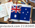 Australia Flag Country Nationality Liberty Concept 21163605