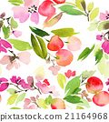 Seamless pattern of cherry watercolor 21164968
