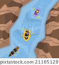 Rafting On River Top View 21165129