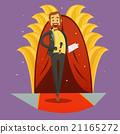 Journalist Stand Up Picture Retro Cartoon  21165272