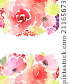 Greeting card. Watercolor flowers background 21165673