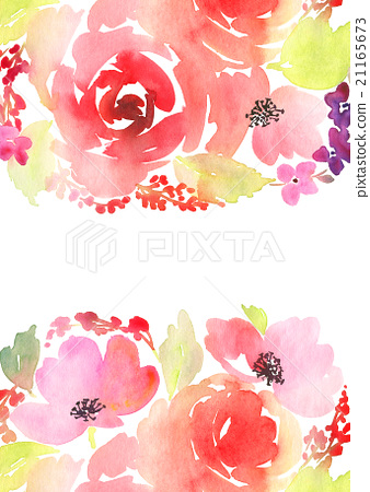 cb33799604f Greeting card. Watercolor flowers background - Stock Illustration ...