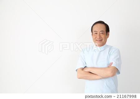 중년 남성 (정체 사 치과 마사지) 21167998