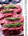 Steak. Raw beef steak.Fresh raw Sirloin beef steak 21172786