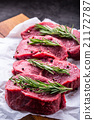 Steak. Raw beef steak.Fresh raw Sirloin beef steak 21172787