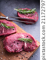 Steak. Raw beef steak.Fresh raw Sirloin beef steak 21172797