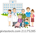 Doctors and elderly family medical 21175285