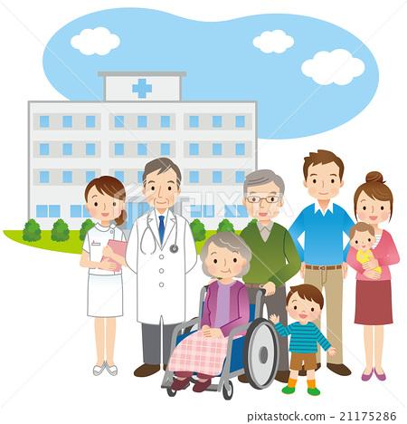 医生和老人家庭医疗 21175286
