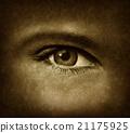 Human Eye With Grunge Texture 21175925
