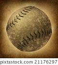 Old Grunge Baseball 21176297