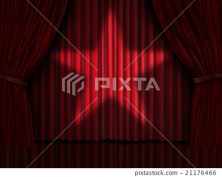 Red Curtains Star 21176466