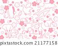 动物和樱桃树 21177158