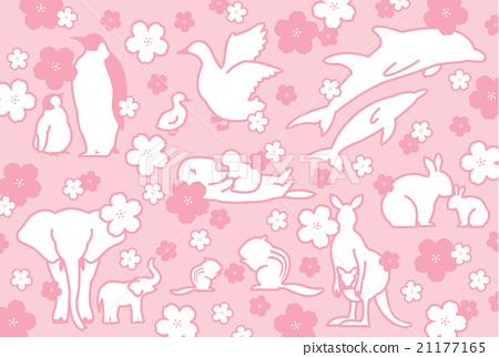 动物和樱桃树 21177165