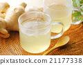 生薑茶 玻璃 姜 21177338