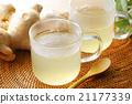 生薑茶 玻璃 姜 21177339