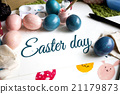 Coloring Easter Eggs for easter day concept 21179873