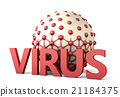 Virus taking on cell 21184375
