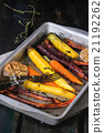 Baked colorful carrots 21192262
