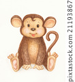 Monkey cartoon. 21193867