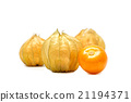 cape gooseberry on white background. 21194371