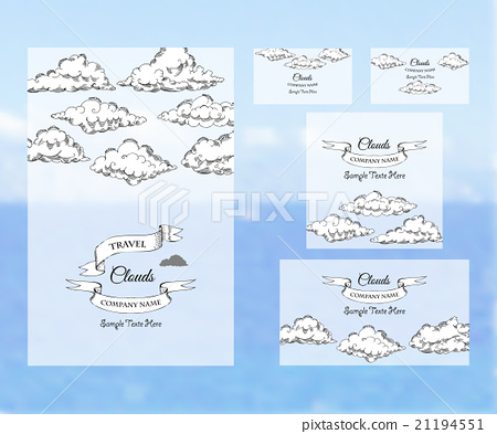 Template corporate identity with clouds 21194551