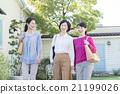 女性 走路 步行 21199026