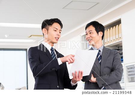 商务人士 商人 男性白领 21199348