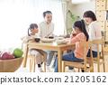 4 인 가족의 식탁 이미지 21205162