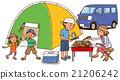 燒烤 帳篷 露營 21206242
