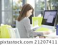 女企業家 文書工作 商務 21207411